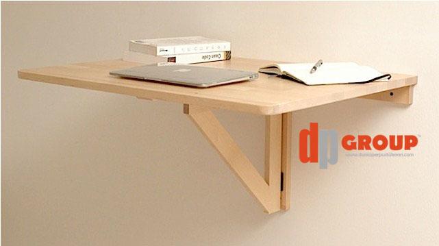 Meja Lipat di Tembok untuk Laptop, Mewah, Murah, Praktis dan Rapi