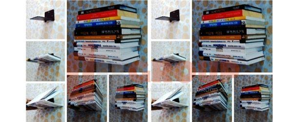 Rak Buku Dinding Modern, Buku Terlihat Melayang dan Rapi